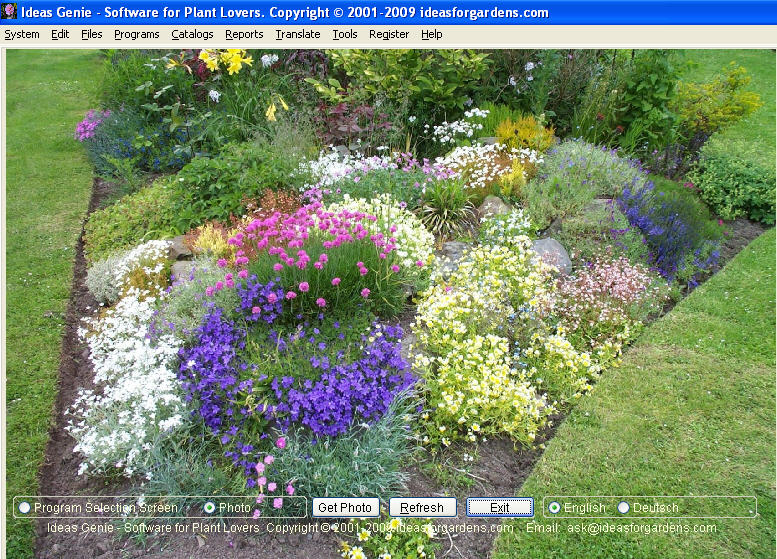 Ideas genie garden software for plant lovers for Garden planting designs